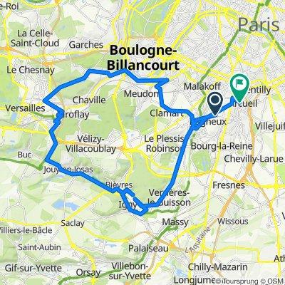 De 21 Avenue Henri Barbusse, Bagneux à 7 Rue Jean-Pierre Timbaud, Arcueil