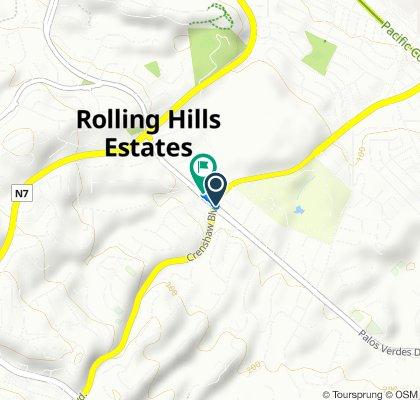 26444 Crenshaw Blvd, Rolling Hills Estates to 4045 Palos Verdes Dr N, Rolling Hills Estates