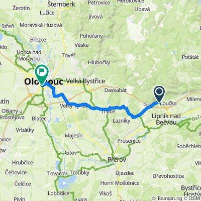 Route to Zamenhofova 718/28, Olomouc