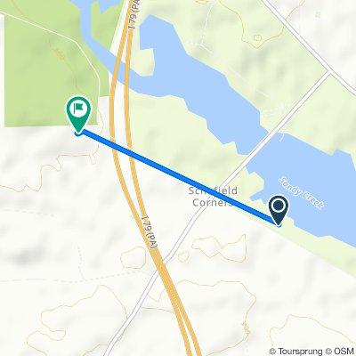1204–1230 Creek Rd, Sandy Lake to 1401 W Creek Rd, Clarks Mills