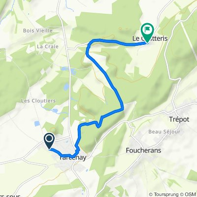 De Rue des Champs Lambert 8, Tarcenay-Foucherans à Grande Rue 8, Le Gratteris