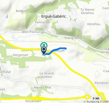 De 6 Chemin de Keraudren, Quimper à 6 Chemin de Keraudren, Quimper