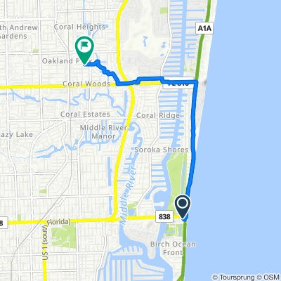 999 N Fort Lauderdale Beach Blvd, Fort Lauderdale to 1547 NE 35th St, Oakland Park