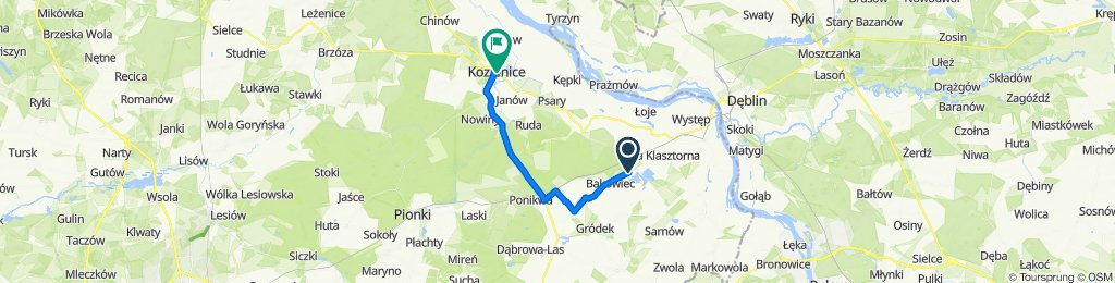 Droga Wojewódzka 691 87 do Osiedle Pokoju 6, Kozienice