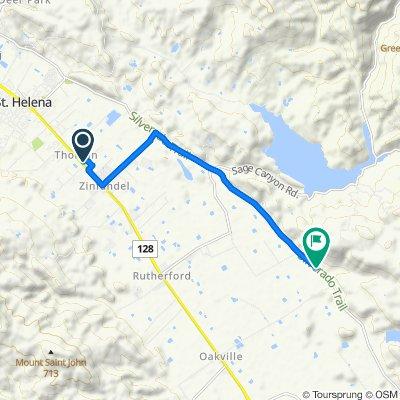 1111 White Ln, Saint Helena to 7831–7849 Silverado Trl, Napa