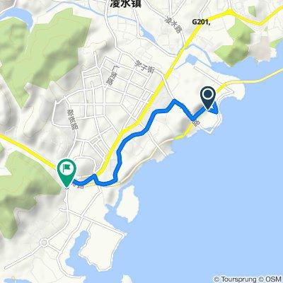Route from Qixian East Road, Dalian