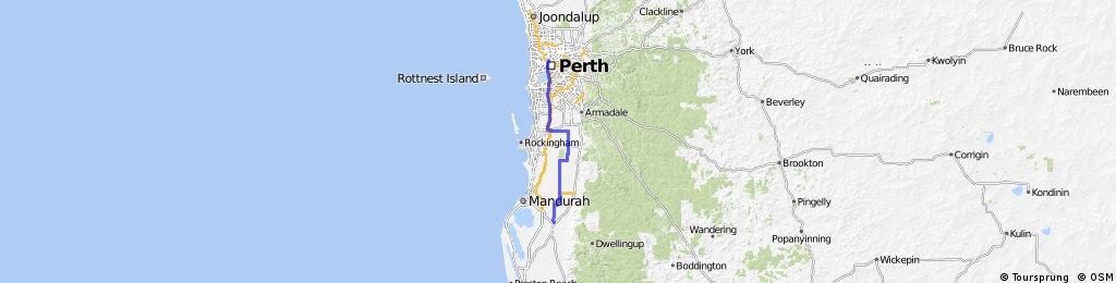 Perth to Pinjarra