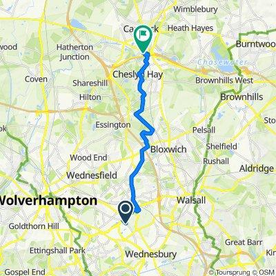 159 Wolverhampton Street, Wednesbury to Rudyard Way, Cannock