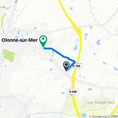 De 119 Rue du Maréchal Joffre, Olonne-sur-Mer à 66 Rue des Nénuphars, Olonne-sur-Mer