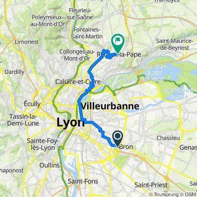 De 52 Rue de la Paix, Bron à 27 Rue du Capitaine Julien, Rillieux-la-Pape