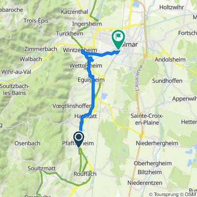 De 3 Rue du Stade, Pfaffenheim à 9 Place de la Gare, Colmar