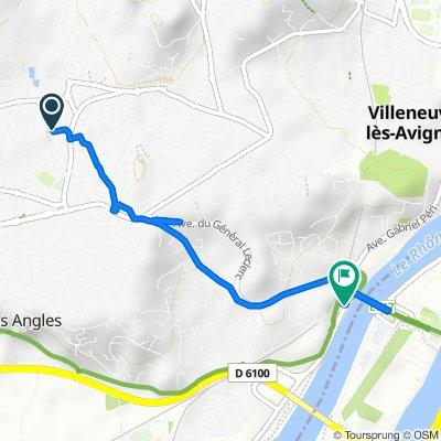 De 15 Traverse des Écoles, Les Angles à 11 Impasse du Rhône, Villeneuve-lès-Avignon