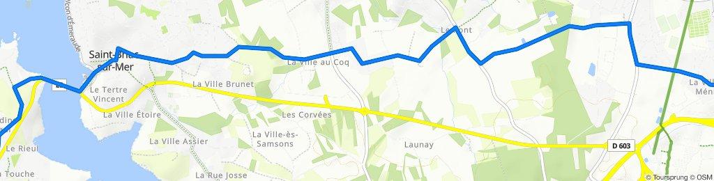 De 33 Rue de la Ville Biais, La Richardais à 11 Rue de l'Islet, Lancieux