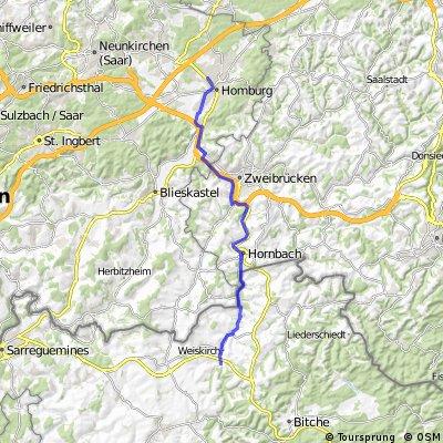 Homburg Hornbach Volmunster Urbach
