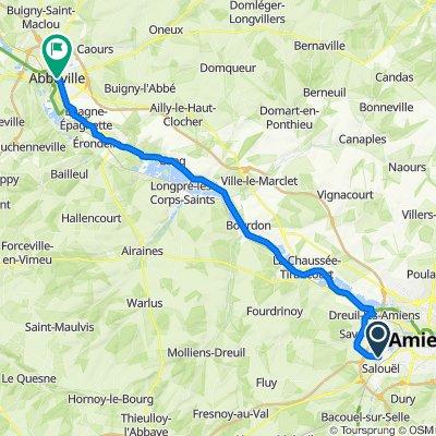 De 10 Allée des Marronniers, Pont-de-Metz à 7bis Rue du Maréchal Foch, Abbeville