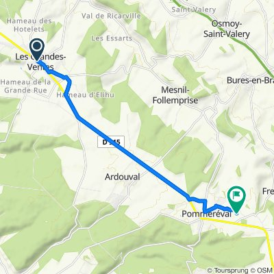 De 45–91 Route de Dieppe, Les Grandes-Ventes à 491–513 Route de Pommeréval, Fresles