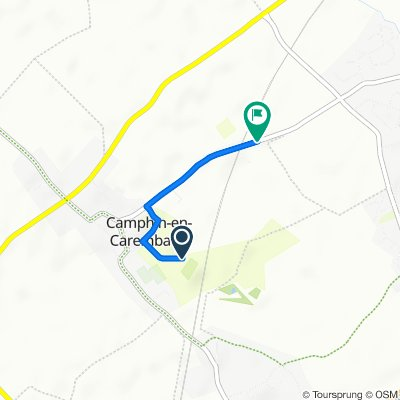 De Chemin du Sautoit Hague, Camphin-en-Carembault à Rue du 14 Juillet, Camphin-en-Carembault