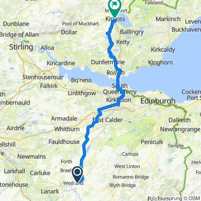 LEJOG 13 - Carnwath to Kinross