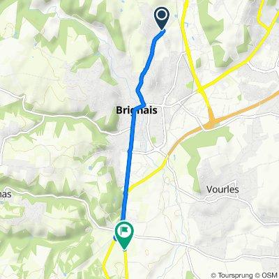 2 Chemin des Quatre Vents, Brignais nach 22 Avenue du Général Brosset, Vourles