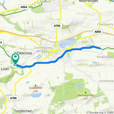 B825, Linlithgow to B825, Linlithgow
