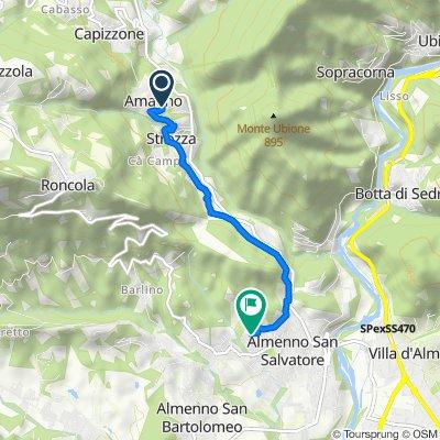 Da Via Roma 32, Strozza a Via Alessandro Manzoni 41, Almenno San Salvatore