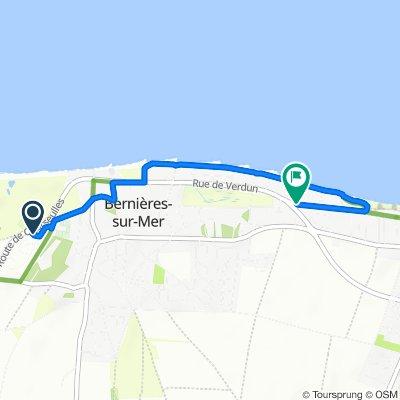 De Route de Courseulles, Bernières-sur-Mer à 47 Avenue de la Manche, Bernières-sur-Mer