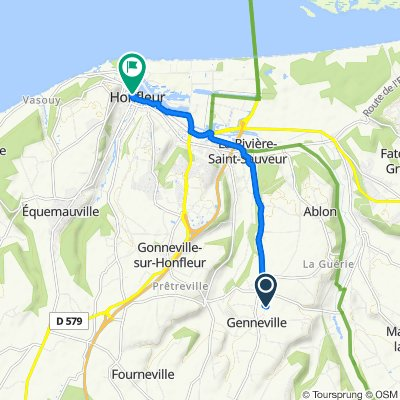De La Briqueterie 380, Genneville à Quai Sainte-Catherine 50, Honfleur