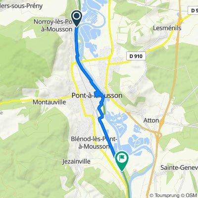 Route van Chemin des Sauxures, Pont-à-Mousson