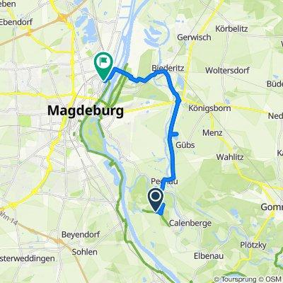 Unnamed Road, Magdeburg nach Hafenstraße 10, Magdeburg