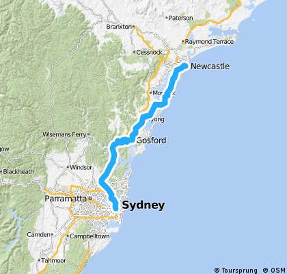 Syndey to Newcastle