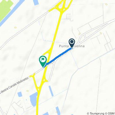 Circonvallazione Canale Molinetto, Ravenna to Via Baronessa 100, Ravenna