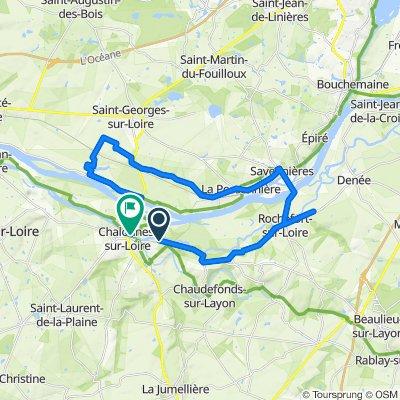 De Le Champ du Bois, Chalonnes-sur-Loire à 11–47 Quai Victor Hugo, Chalonnes-sur-Loire
