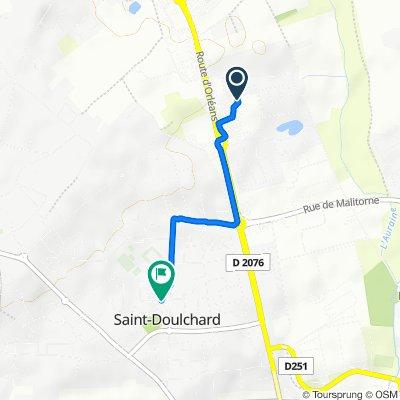 De Allée des Rivalettes 63, Saint-Doulchard à Rue Louis Armand 9, Saint-Doulchard