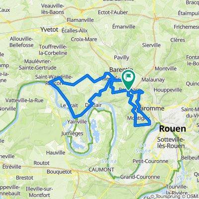 Cyclotourisme à l'ouest de Canteleu