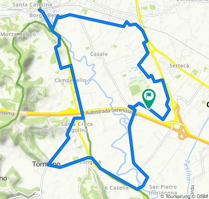 CICLABILE Da Strada Caperse 299, Vicenza a Strada Caperse 299, Vicenza