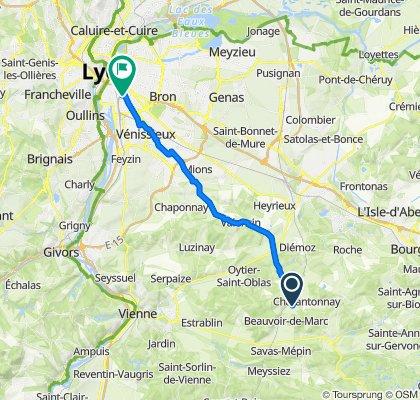 De 3351–3419 Route de Lyon, Beauvoir-de-Marc à 101 Rue Audibert et Lavirotte, Lyon