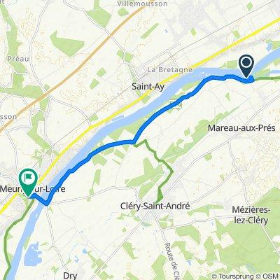 Itinéraire vers 5 Place du Martroy, Meung-sur-Loire