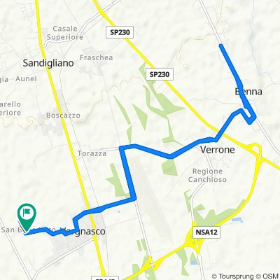 Da Piazza San Benedetto 10, Cerrione a Piazza San Benedetto 24, Cerrione