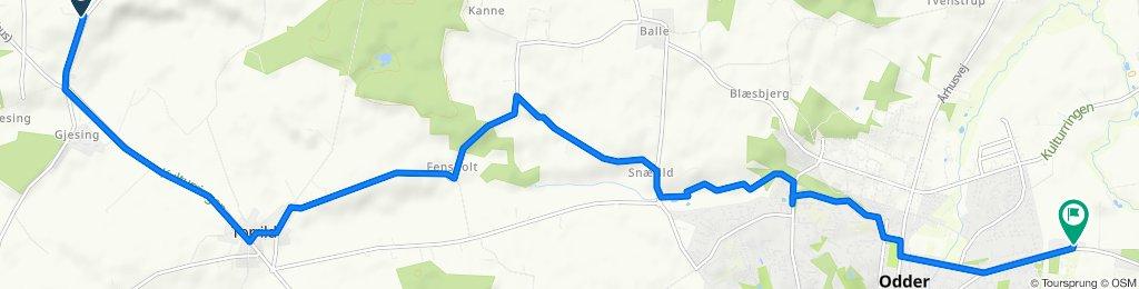 Gammel Horsensvej 344, Skanderborg to Rørthvej 159, Odder
