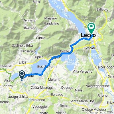 Da Via Giuseppe Parini 6/N, Nobile-monguzzo a via Amendola 105, Lecco