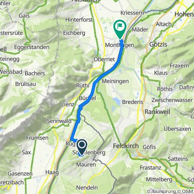 Loch 12, Schellenberg nach Im Steinbruch 3, Montlingen