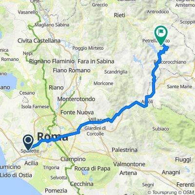 Da Via Fordongianus 134, Roma a Unnamed Road, Petrella salto