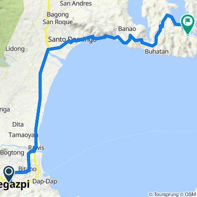 W. Vinzon Street, Legazpi City to Santo Domingo-Bacacay Road, Bacacay