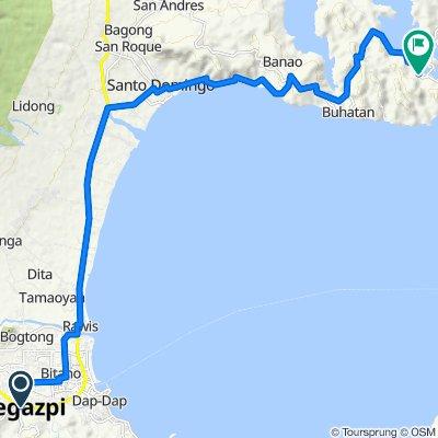 Rizal Street, Legazpi City to Santo Domingo-Bacacay Road, Bacacay