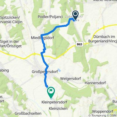 Zuberbach 43, Zuberbach nach Kleinpetersdorf 109, Großpetersdorf