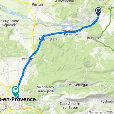 De D96, Jouques à 3 Avenue Jules Isaac, Aix-en-Provence