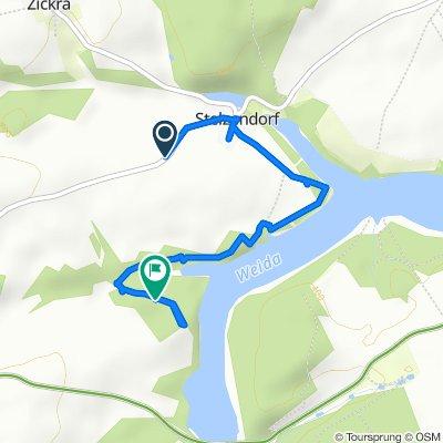 Route von Stelzendorfer Weg, Zeulenroda-Triebes