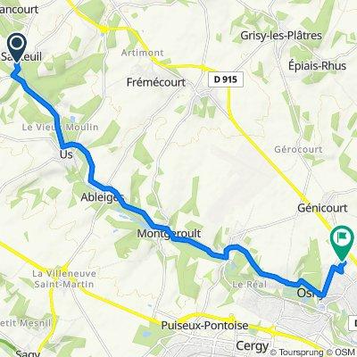 De 1 Rue de la Tour de Viosne, Santeuil à 6 Rue Paul-Émile Victor, Osny