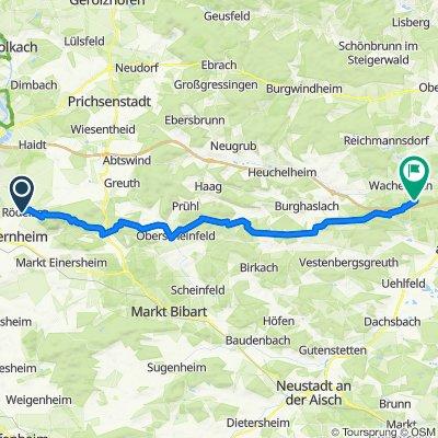 Wanderweg: Naturpark Steigerwald, Blaues Dreieck (Rödelsee-Weingartsgreuth)