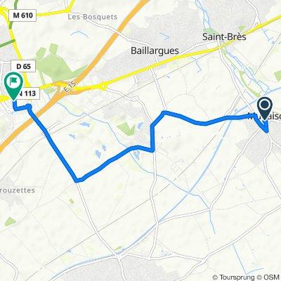 De 4 Rue du Courreau, Mudaison à 37 Centre Commercial Saint-Antoine, Saint-Aunès
